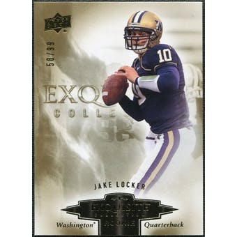 2010 Upper Deck Exquisite Collection Draft Picks #ERJL Jake Locker /99