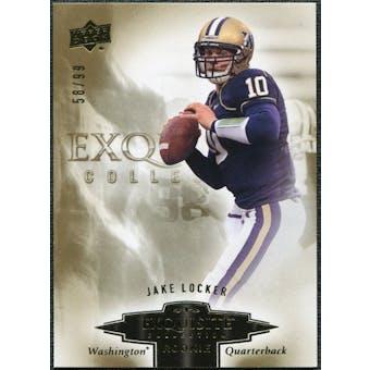 2010 Upper Deck Exquisite Collection Draft Picks #ERJL Jake Locker /99