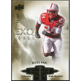 2010 Upper Deck Exquisite Collection Draft Picks #ERNP Niles Paul /99