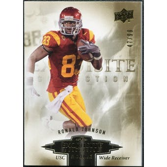 2010 Upper Deck Exquisite Collection Draft Picks #ERRJ Ronald Johnson /99