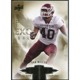 2010 Upper Deck Exquisite Collection Draft Picks #ERVM Von Miller /99