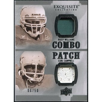 2010 Upper Deck Exquisite Collection Patch Combos #WC Ricky Williams Earl Campbell /50
