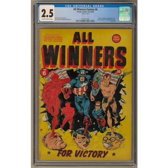All Winners Comics #6 CGC 2.5 (SB) *1479101001*