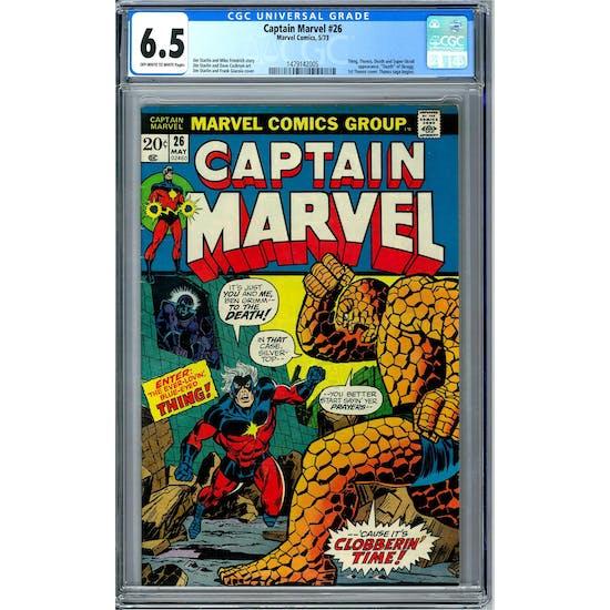 Captain Marvel #26 CGC 6.5 (OW-W) *1479142005*