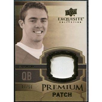2010 Upper Deck Exquisite Collection Premium Patch #EPPCM Colt McCoy /50