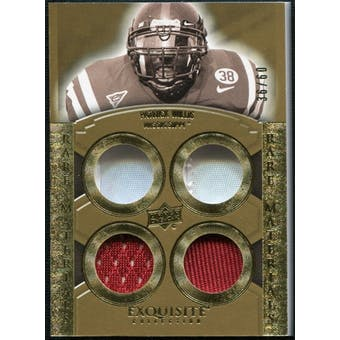 2010 Upper Deck Exquisite Collection Rare Materials #ERMPW Patrick Willis 36/60