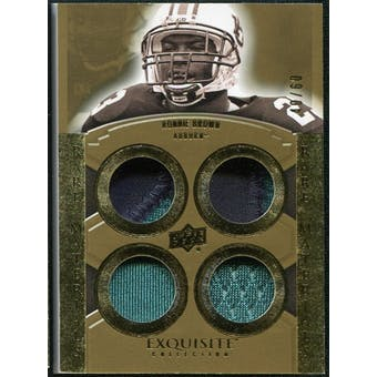 2010 Upper Deck Exquisite Collection Rare Materials #ERMRB Ronnie Brown /60
