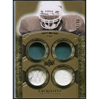 2010 Upper Deck Exquisite Collection Rare Materials #ERMRW Ricky Williams /60