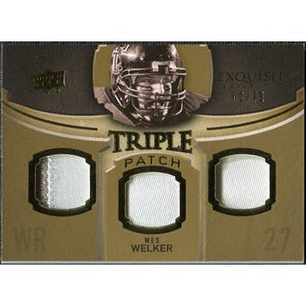 2010 Upper Deck Exquisite Collection Single Player Triple Patch #ETPWW Wes Welker /75
