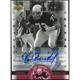 2005 Upper Deck Legends Legendary Signatures #DD Dan Dierdorf Autograph