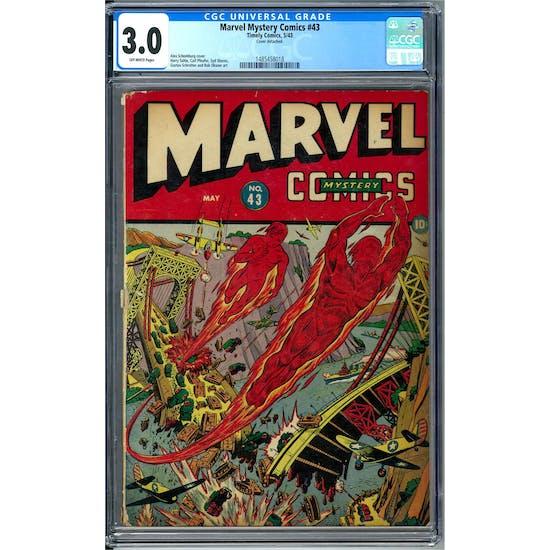 Marvel Mystery Comics #43 CGC 3.0 (OW) *1485458018*