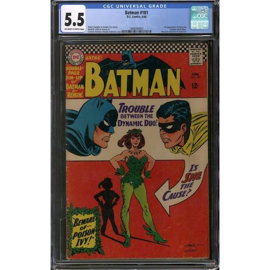 Batman #181 CGC 5.5 (OW-W) *1488344001*