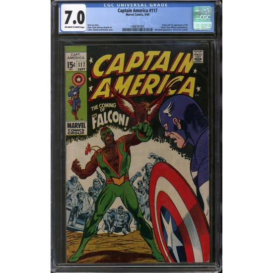 Captain America #117 CGC 7.0 (OW-W) *1488747001*