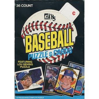 1985 Donruss Baseball Wax Box