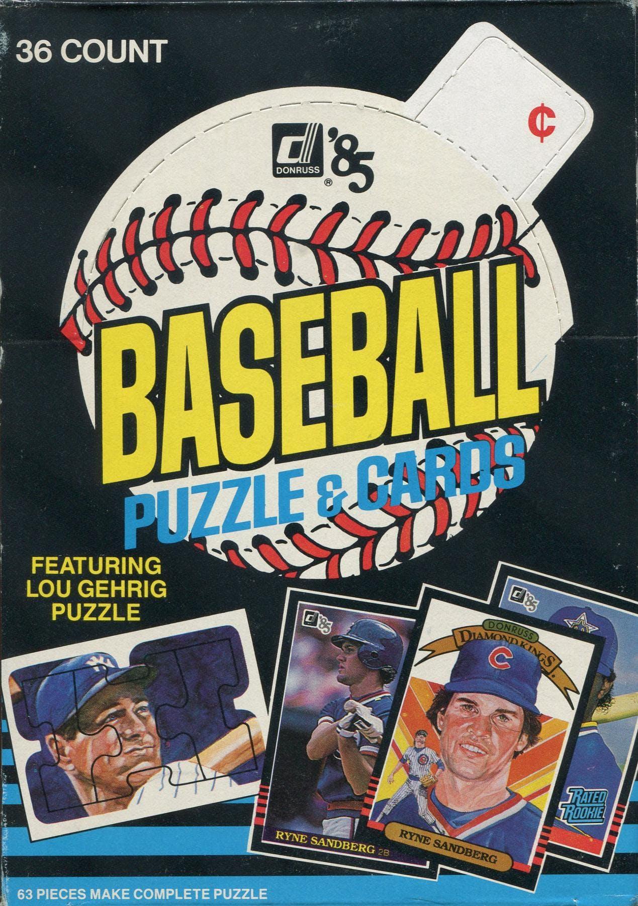 1985 Donruss Baseball Wax Box Da Card World