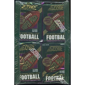 1993 Score Football Jumbo Box