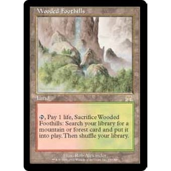 Magic the Gathering Onslaught Single Wooded Foothills Foil - NEAR MINT (NM)