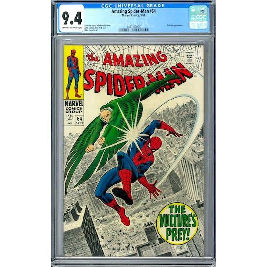 Amazing Spider-Man #64 CGC 9.4 (OW-W) *1493700005*