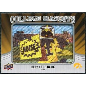 2012 Upper Deck College Mascot Manufactured Patch #CM21 Herky Hawk A