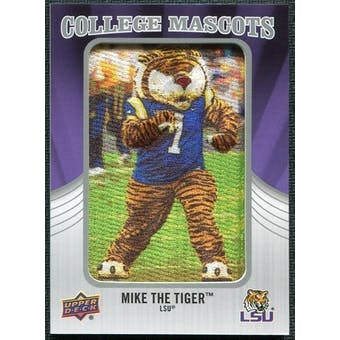 2012 Upper Deck College Mascot Manufactured Patch #CM24 Mike the Tiger A/tiger costume image
