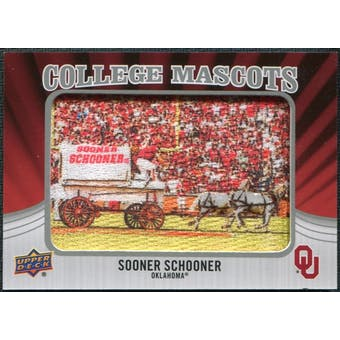 2012 Upper Deck College Mascot Manufactured Patch #CM36 Sooner Schooner A