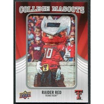 2012 Upper Deck College Mascot Manufactured Patch #CM50 Raider Red A