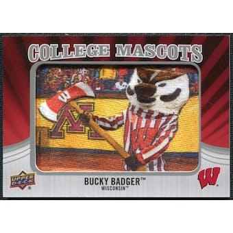 2012 Upper Deck College Mascot Manufactured Patch #CM59 Bucky Badger A