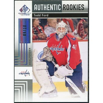 2011/12 Upper Deck SP Game Used Silver Spectrum #155 Todd Ford RC /10