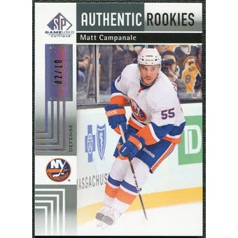 2011/12 Upper Deck SP Game Used Silver Spectrum #149 Matt Campanale RC /10