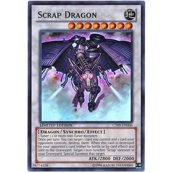 Yu-Gi-Oh Limited Edition Tin Single Scrap Dragon Super Rare CT09 - NEAR MINT (NM)