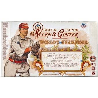 2014 Topps Allen & Ginter Baseball Hobby Box