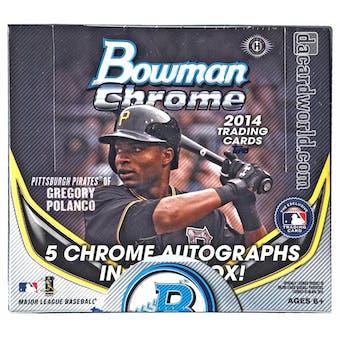 2014 Bowman Chrome Baseball Jumbo Box