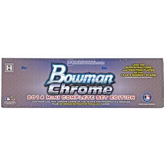 2014 Bowman Chrome Mini Baseball Hobby Box (Set)