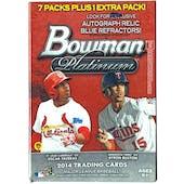 2014 Bowman Platinum Baseball 8-Pack Box