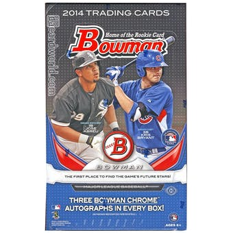 2014 Bowman Baseball Jumbo Box