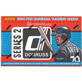 2014 Panini Donruss Series 2 Baseball Hobby Box