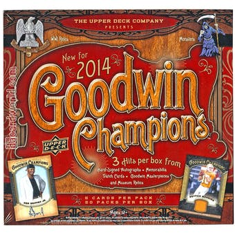 2014 Upper Deck Goodwin Champions Hobby Box