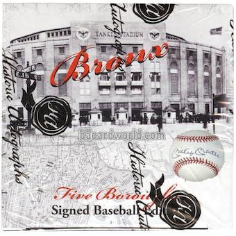 2014 Historic Autograph Five Boroughs Signed Baseball Edition Hobby Box