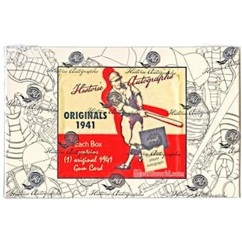 2014 HAC Originals 1941 Playball Cut Signature Baseball Hobby Box