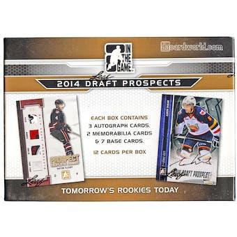 2014/15 In The Game Draft Prospects Hockey Hobby Box