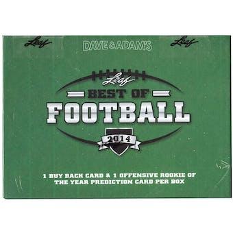 2014 Leaf Best Of Football Hobby Box