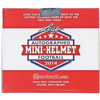 2014 Leaf Autographed Mini-Helmet Football Hobby Box