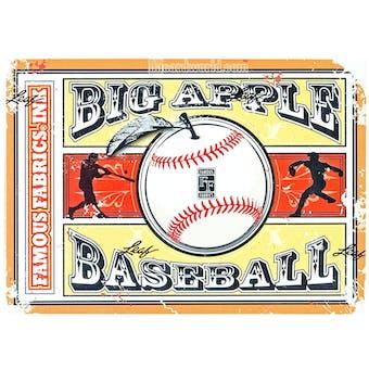 2014 Famous Fabrics Big Apple Baseball Hobby Box