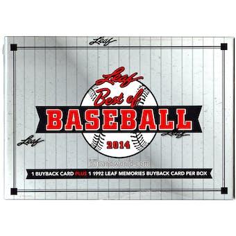 2014 Leaf Best Of Baseball Hobby Box