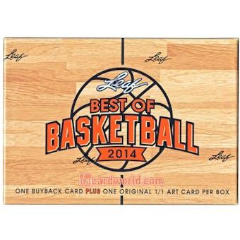 2013/14 Leaf Best Of Basketball Hobby Box