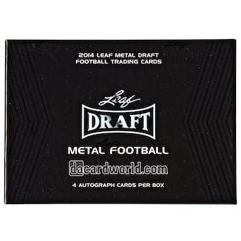 2014 Leaf Metal Draft Football Hobby Box