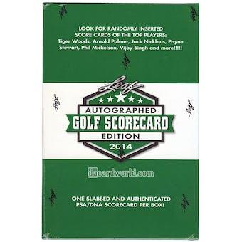 2014 Leaf Autographed Scorecard Edition Golf Hobby Box (Pack)