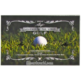 2014 Leaf Legends of the Links Golf Hobby Box