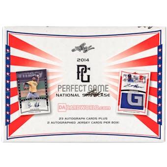 2014 Leaf Perfect Game Showcase Baseball Hobby Box