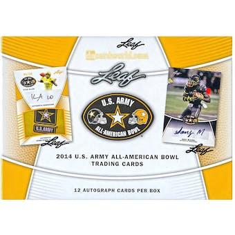2014 Leaf U.S. Army All American Bowl Football Hobby Box